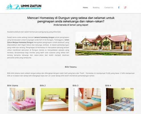 Web Design Homestay