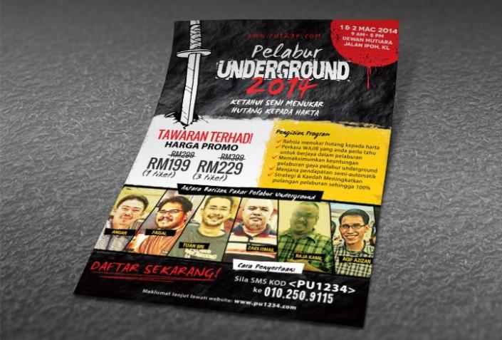Flyer & Surat Khabar - Pelabur Underground